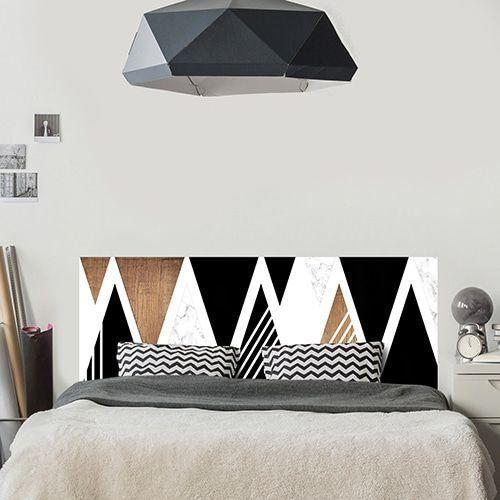 Chambre Blanche Et Bois De Nynha B Du Tableau Idees Pour La Maison En 2020 Sticker Tete De Lit Deco Chambre