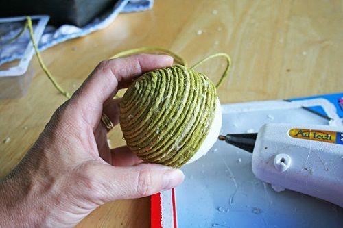 Bolas Decorativas de Isopor - Passo a Passo