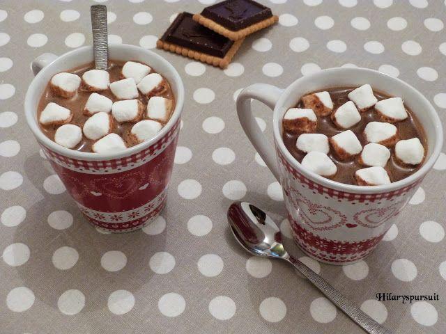 Dans la cuisine d'Hilary: Chocolat chaud à l'ancienne et ses petits marshmal...