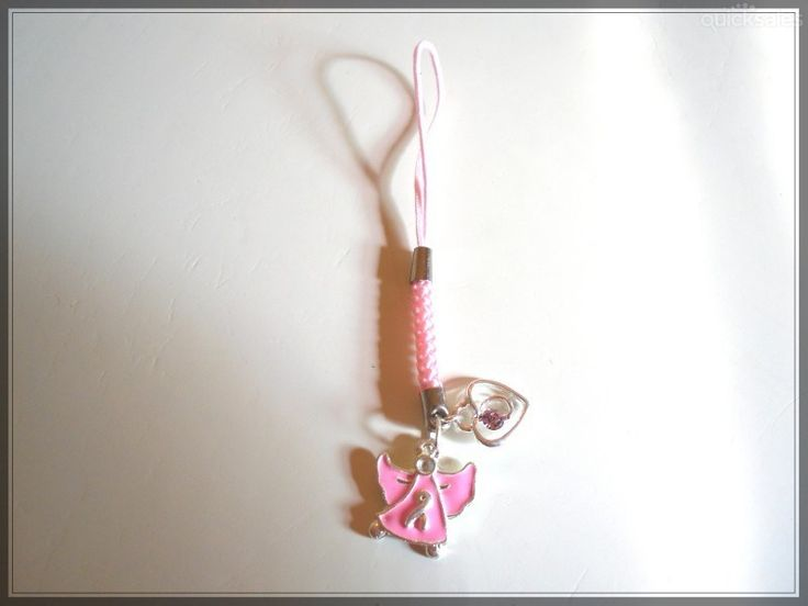 Angel/Heart Mobile Phone/Bag Dangle by MadAboutIncense - $6.50