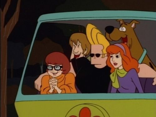 Scooby Doo and Johnny Bravo