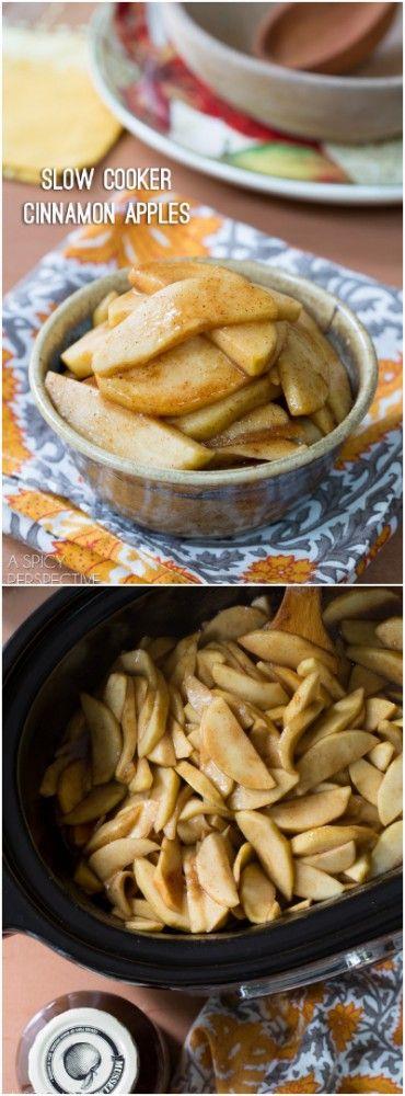 Slow Cooker Cinnamon Apples with 2 Secret Ingredients! #apple #slowcooker #crockpot #fall