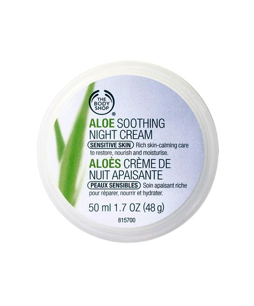 "The Body Shop Aloe Soothing Night Cream | This aloe-infused formula refreshes skin overnight, bringing effortless moisture to even the driest, most sensitive skin. ""It's silky, fragrance-free, and awesome,"" said one reviewer, whose dry skin hydrated completely after just a few uses."