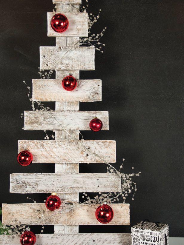 Árboles de Navidad muy económicos y originales con palets ...