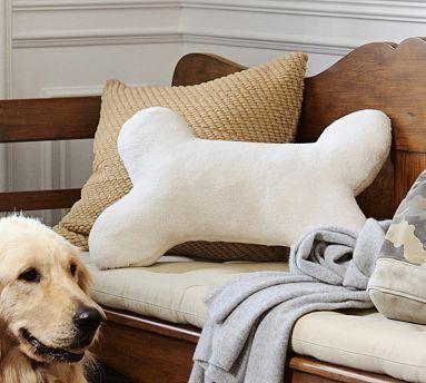 Sherpa Dog Bone Pillow #potterybarn