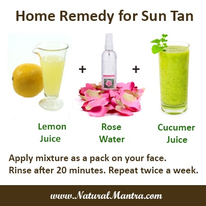 how to get rid of sun tan quickly