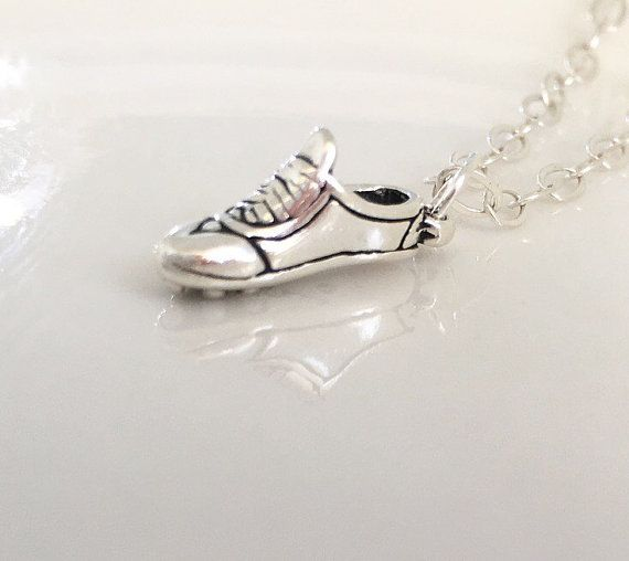 Runners necklace running necklace trainer by CharlotteFarrBridal