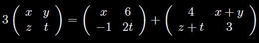 Algebra delle matrici: impariamo a risolvere le equazioni matriciali L'esempio che proponiamo in questo post riguarda la somma (algebrica) di matrici quadrate del secondo ordine dei reali. Alcuni elementi di matrice compaiono come incognite, in modo da condurre a un s