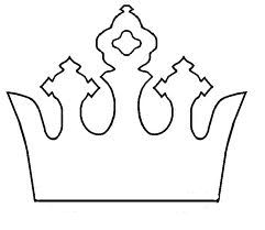 Repinning for mommy's future reference :-) --fancy princess crown template