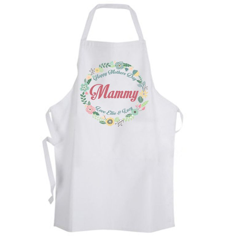 Personalised Mothers Day Gifts Ireland | Personalised Mothers Day Apron | Mothers Day Gift Ideas | WowWee.ie  €20 available here https://www.wowwee.ie/Mothers-Day-Gifts-s/105.htm
