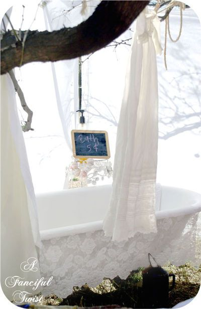 An outdoor tub!