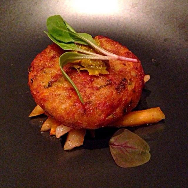 レシピとお料理がひらめくSnapDish - 3件のもぐもぐ - Navrattan tikki (9種類の野菜のクロケット、柿とフルーツチャート添え) by Sergey Gris