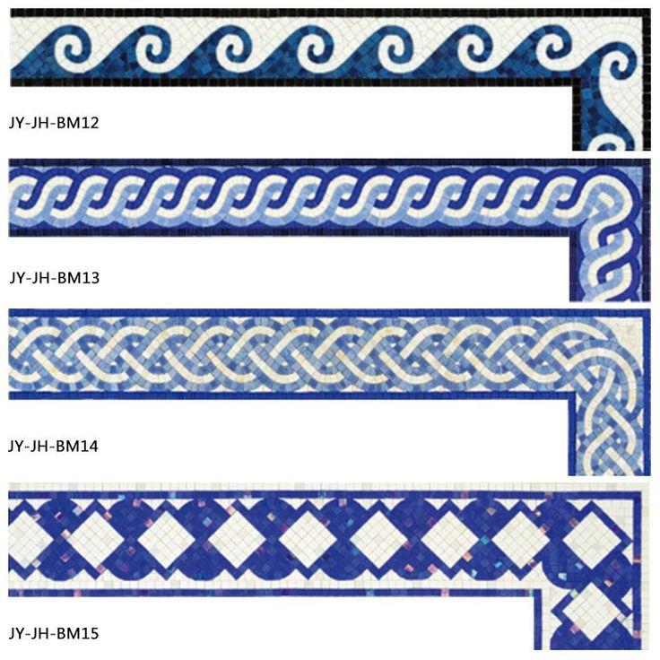 Decorative Handmade Swimming Pool Border Tile Floor Border Tiles ...