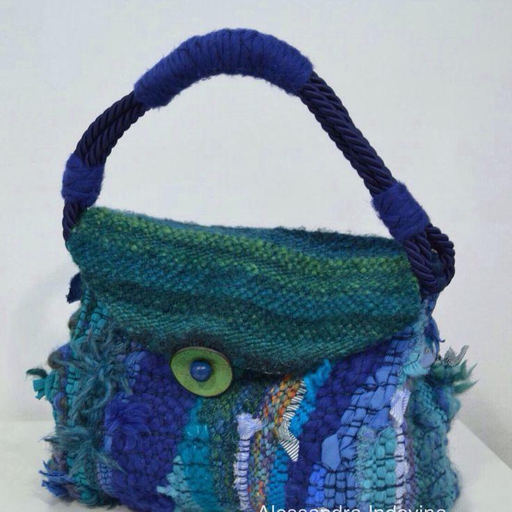 "#weavingbags #weaving #bags #borse #handmade #alessandraindovina ""Alin"" la mia borsa"
