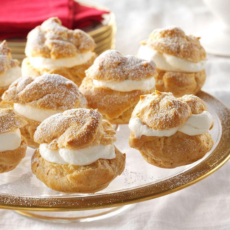 Eggnog Cream Puffs Recipe | Taste of Home