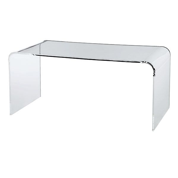 Gorgeous acrylic table. Those lines!