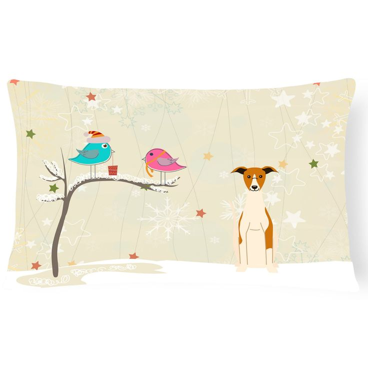 Carolines Treasures Christmas Presents Between Friends Whippet Outdoor Pillow - BB2571PW1216