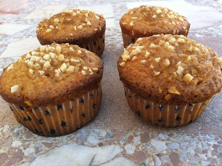 Receta de Muffins de calabaza y canela de dificultad Media para 6 personas lista en 45 minutos.