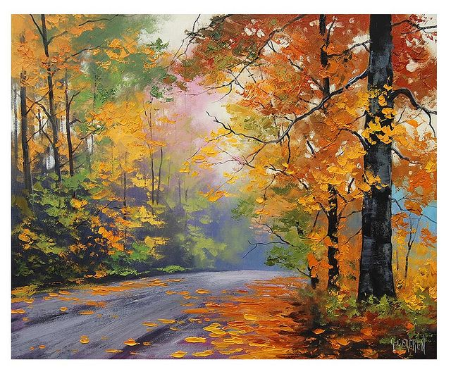 autumn oil paintings by artsaus, via Flickr