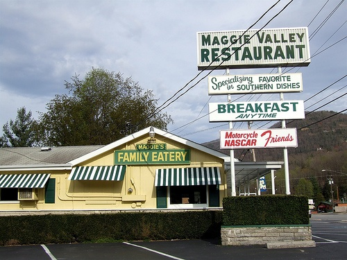 Maggie Valley Restaurant, five minutes from Timberwolf Creek in Maggie Valley NC