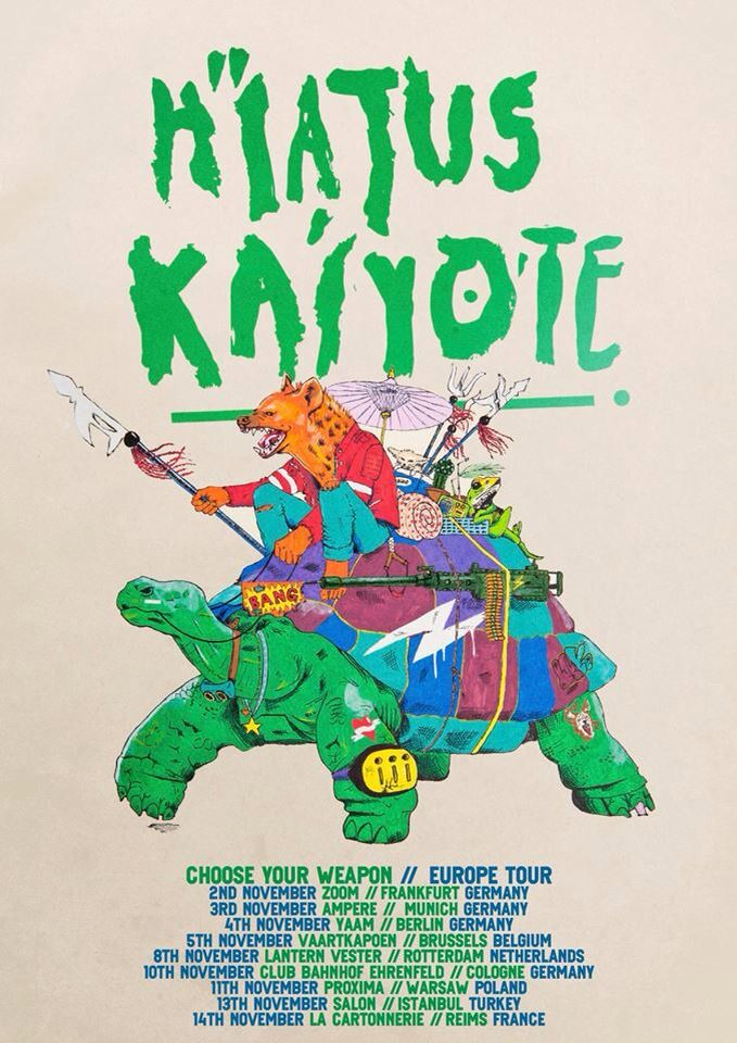 Hiatus Kaiyote - European tour 2015 poster