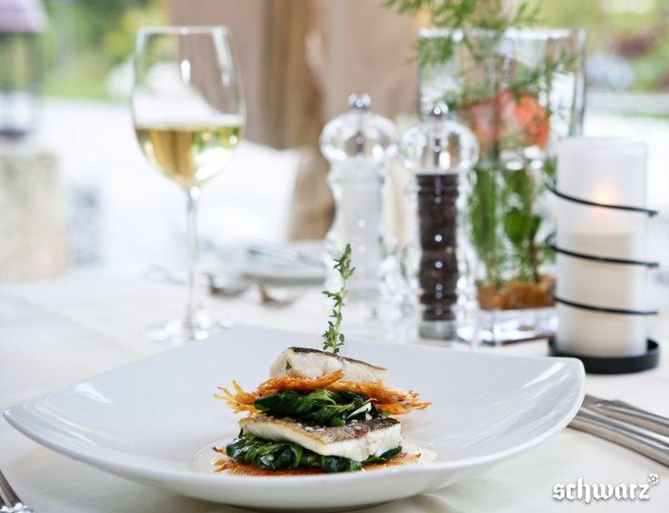 Forelle auf Blattspinat mit Rösti | Alpenresort Schwarz | Mieming | Österreich