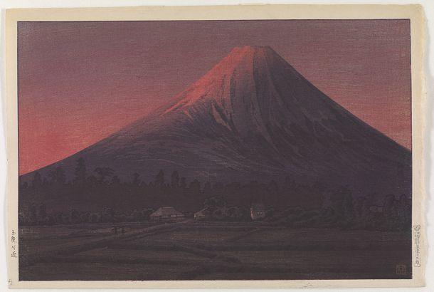 Mt. Fuji near Tamaho | Takahashi Shotei | Japan | Woodblock print | 1927-1935 | Show era | Freer and Sackler | S2003.8.2394