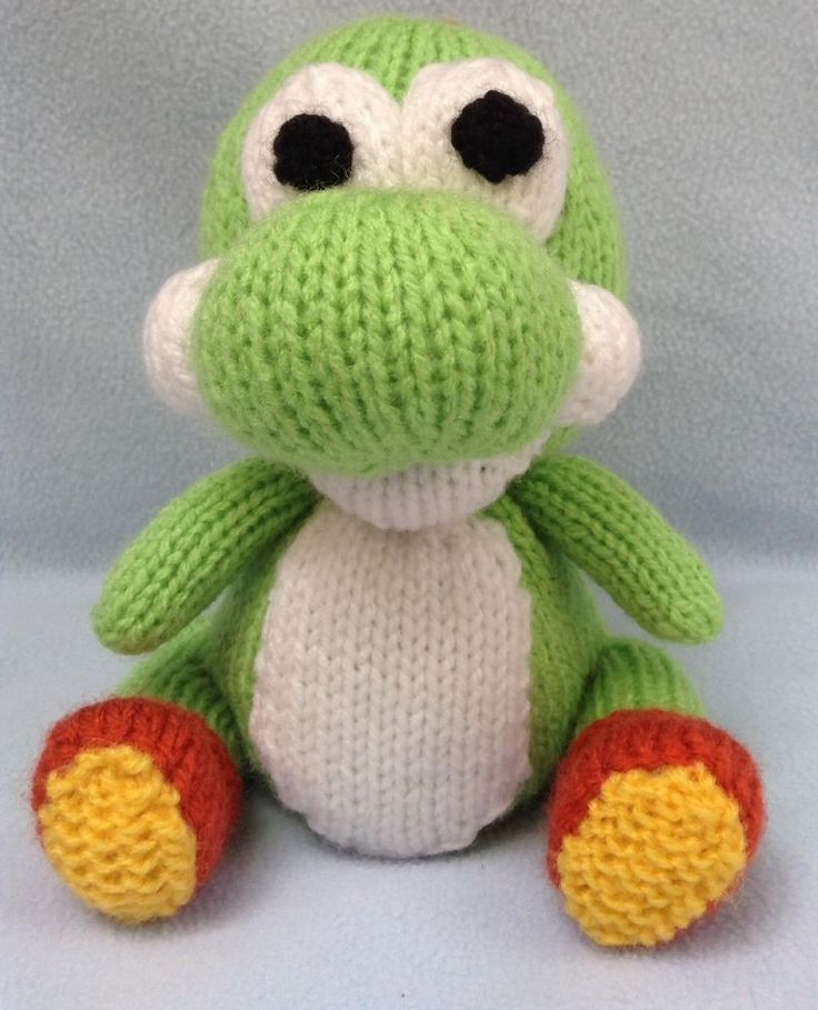 Knitting Pattern For Yoshi Toy : Dinosaur Knitting pattern - inspired by Yoshi Woolly World orange cover or to...