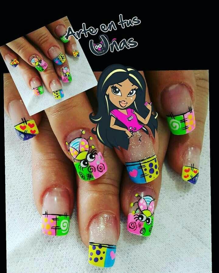Arte en tus uñas 💅👣💅 | Uñas caricaturas, Arte de uñas ...