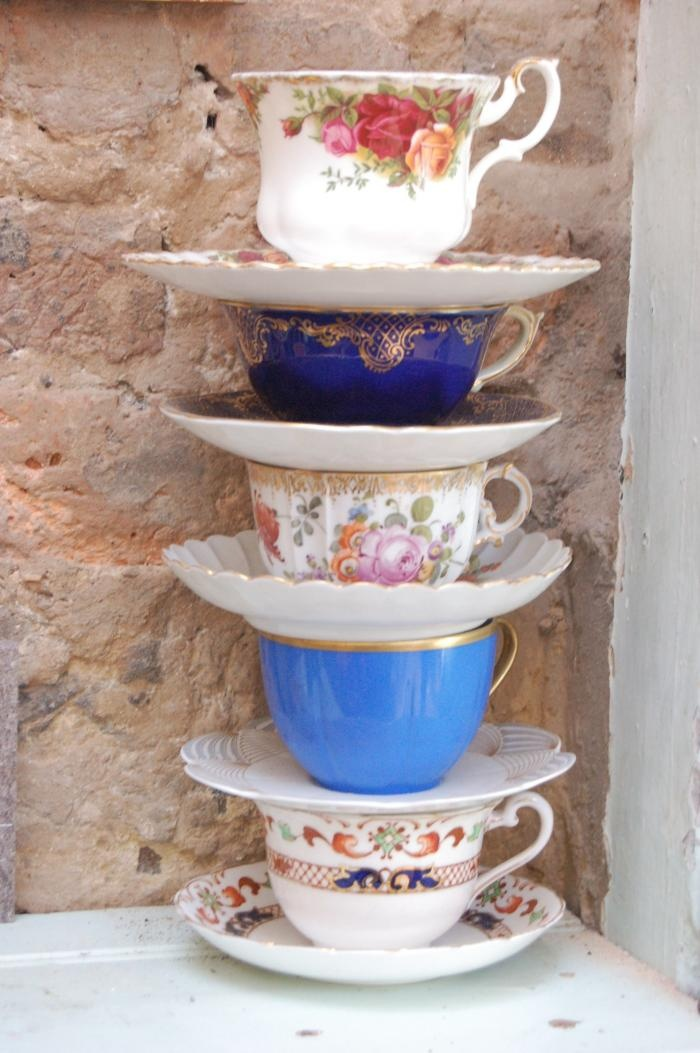 cups and saucers.....