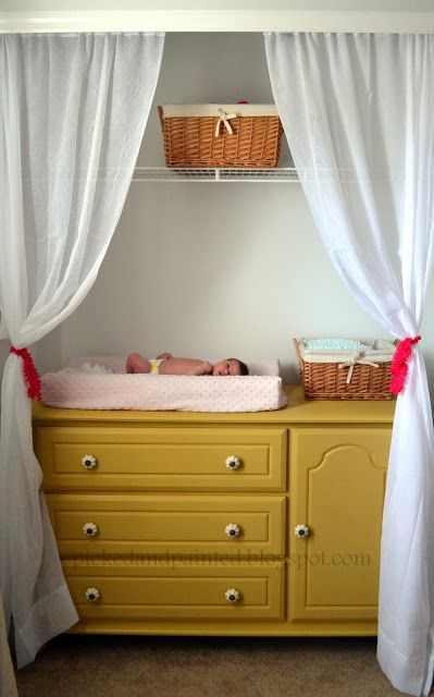 Changing table in the closet!