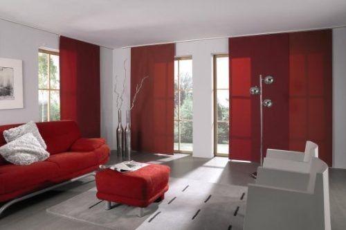 Paneles orientales black out rojos