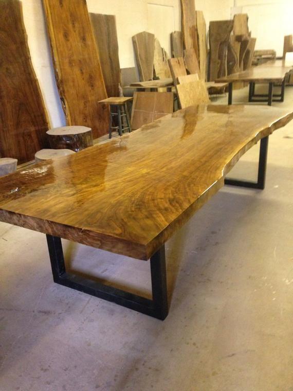 Dining Table Live Edge Dining Table Live Edge Table Wood Etsy In 2020 Live Edge Dining Table Wood Slab Table Wood Slab Dining Table