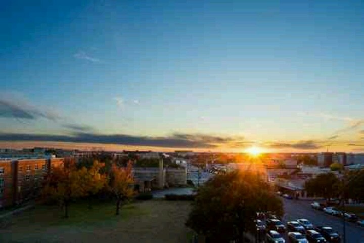 Sunset over Northgate in College Station, Texas