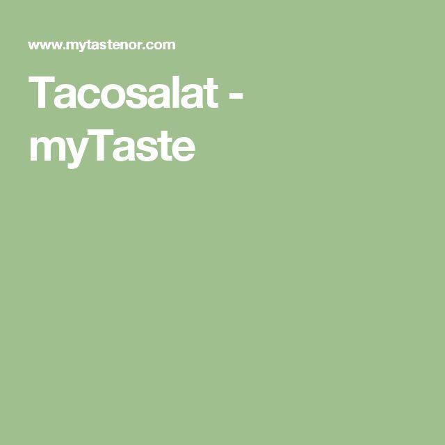 Tacosalat - myTaste