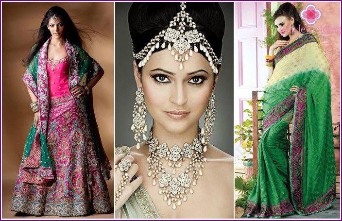 ชุดแต่งงานอินเดีย - รูปแบบดั้งเดิมและสมัยใหม่ที่มีรูปถ่าย
