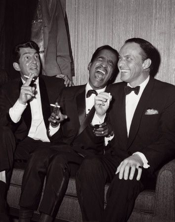 The Rat Pack core members: Frank Sinatra, Sammy Davis Jr and Dean Martin. Playing with the big boys!