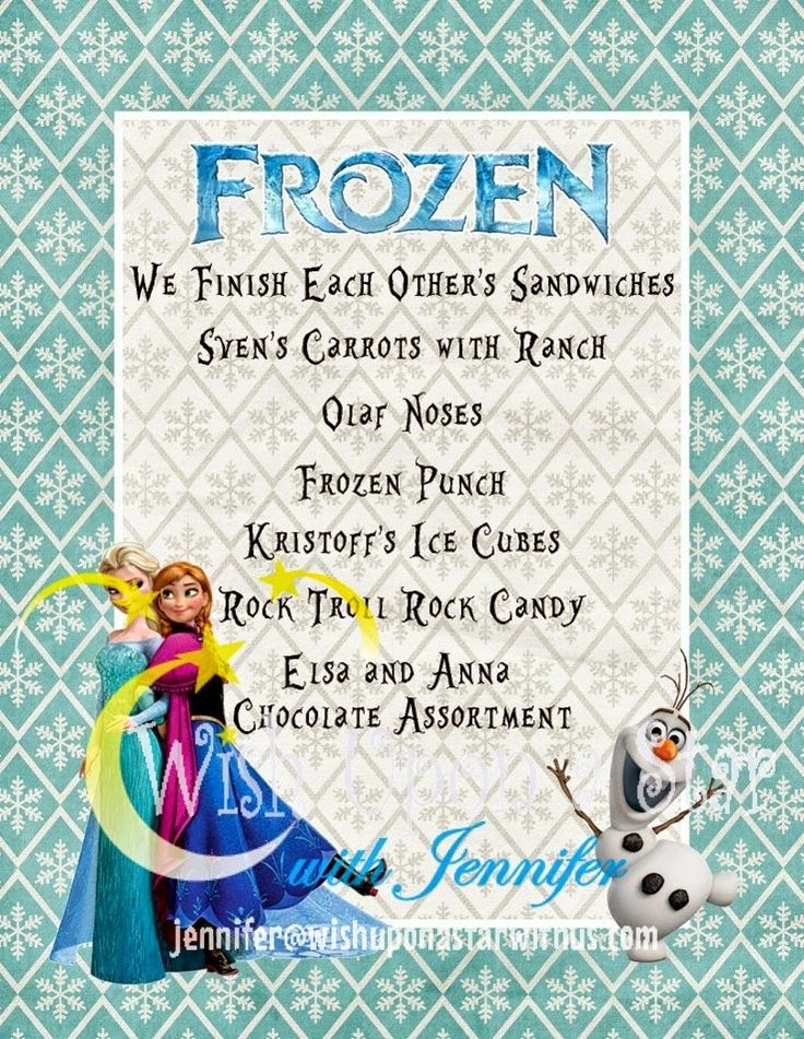 Wish Upon a Star with Jennifer: Frozen Family Movie Night--with FREEBIES