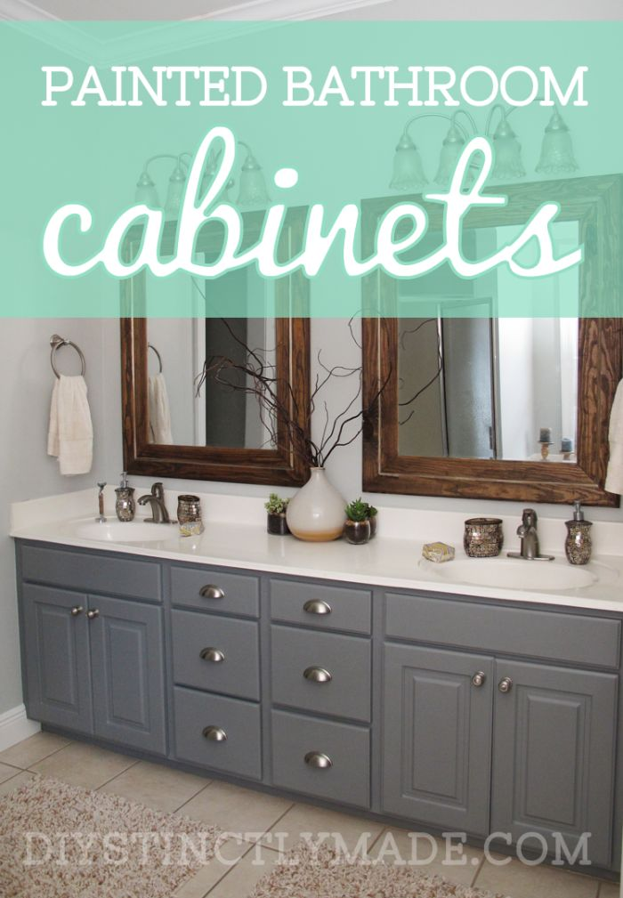 Diy Painted Bathroom Cabinets Mark Twain House Ombre Gray Diystinctlymade Diystinctly Made Home In 2018 Pinterest