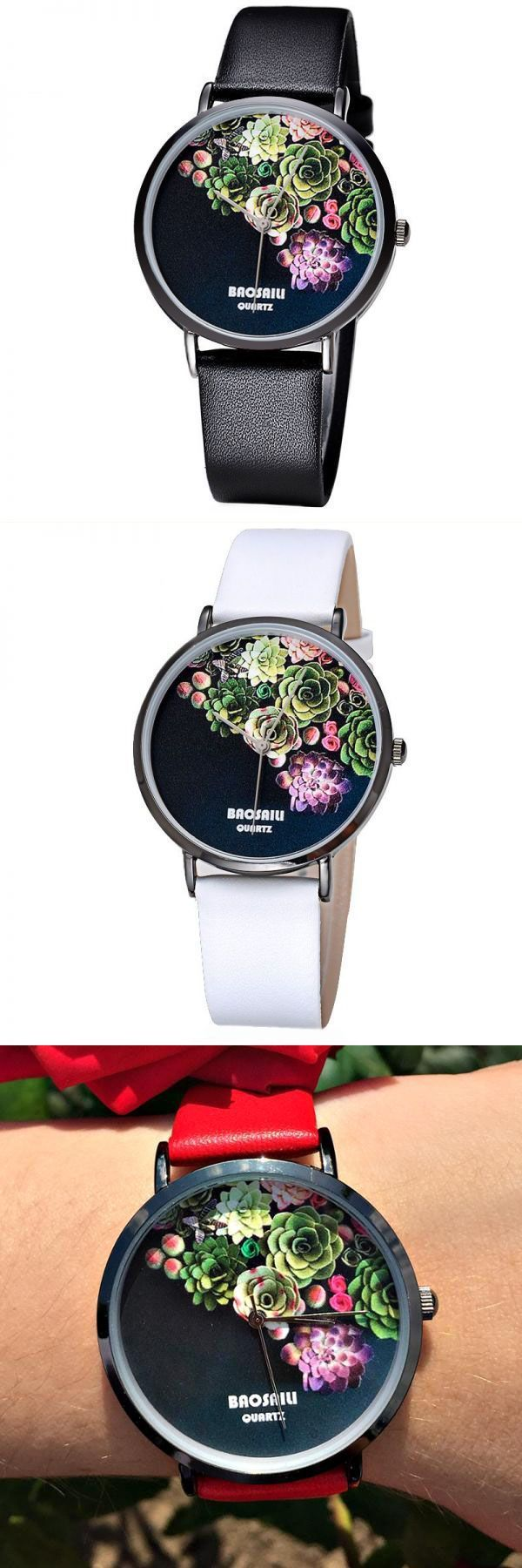 Casual style dress up baosaili women watch luxury fashion floral design leather strap ladies wrist watch #casual #style #2017 #casual #style #instagram #casual #style #set #word #smart #casual #nautical #style