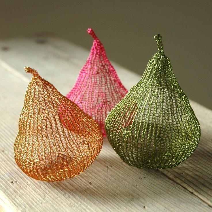 Wire crochet PDF pattern unique wire pears home decoration unique DIY project wire sculpture tutorial. $10.00, via Etsy.