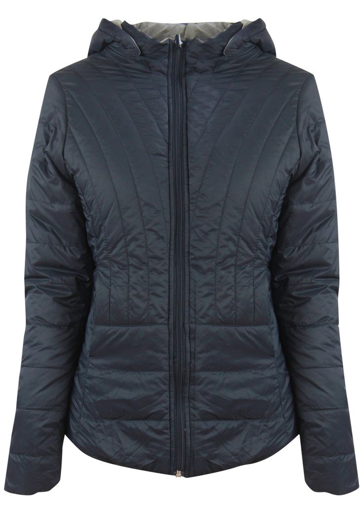 Betty Basics - Thatcher Reversible Puffer Jacket In Navy/Beige