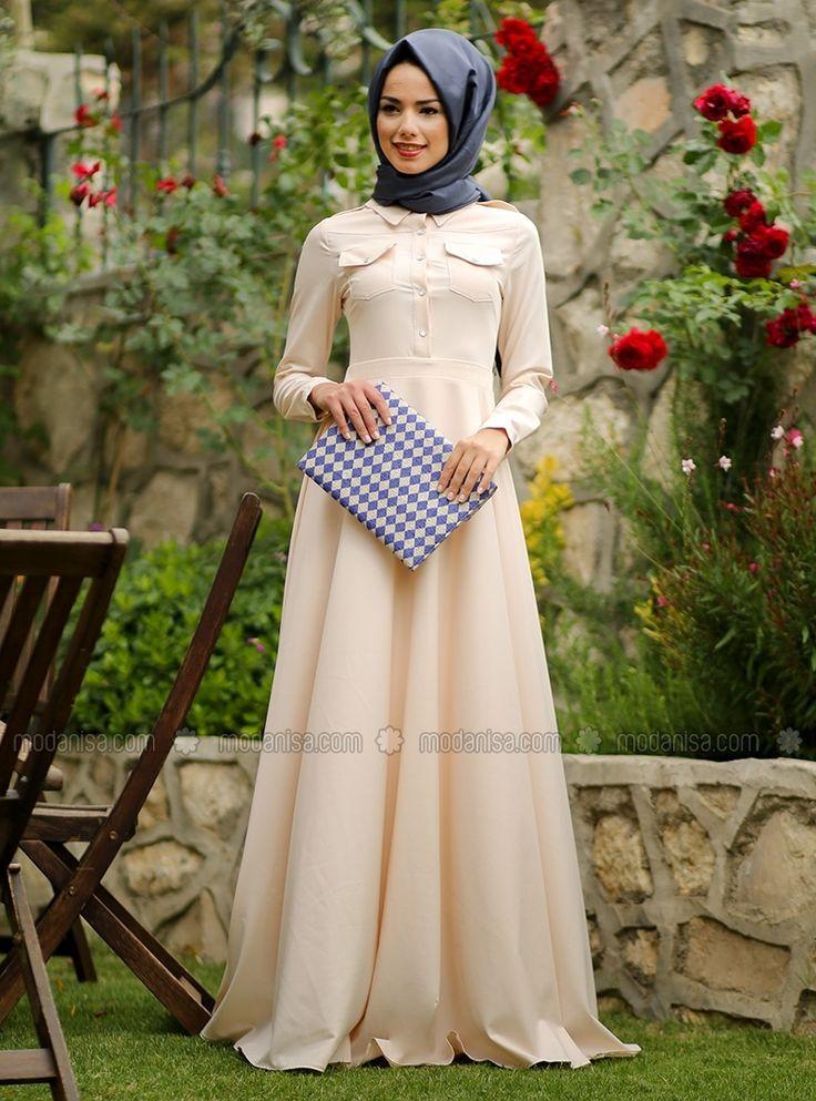 Damra Apoletli Elbise - Somon - Mevra