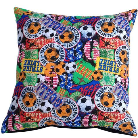 Cushion cover sports balls soccer basketball football rugby 40cm 16inch