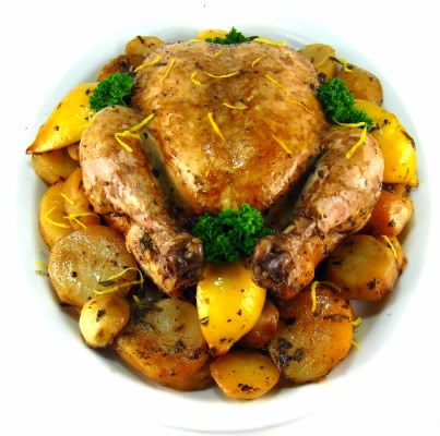 One Perfect Bite: Lemon-Herb Slow-Cooked Chicken~T~ Love this recipe.
