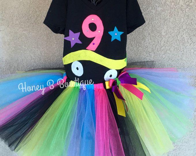 Roller Skate Tutu, 80's Tutu Outfit, Neon Tutu Outfit, Skate Tutu, 80s Tutu, 80s Outfit, Roll Skate Tutu RS1