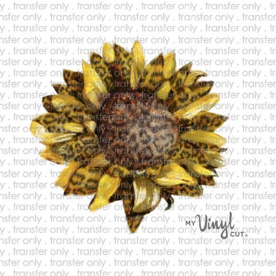 Sticker B2 Leopard Sunflower Printed Vinyl Sticker White Clear Etsy Leopard Watercolor Print Vinyl Stickers Prints