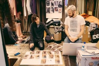 Designer and stylist deciding the order of the looks | Alexander Lewis AW16 Presentation - Behind the Scenes at London Fashion Week