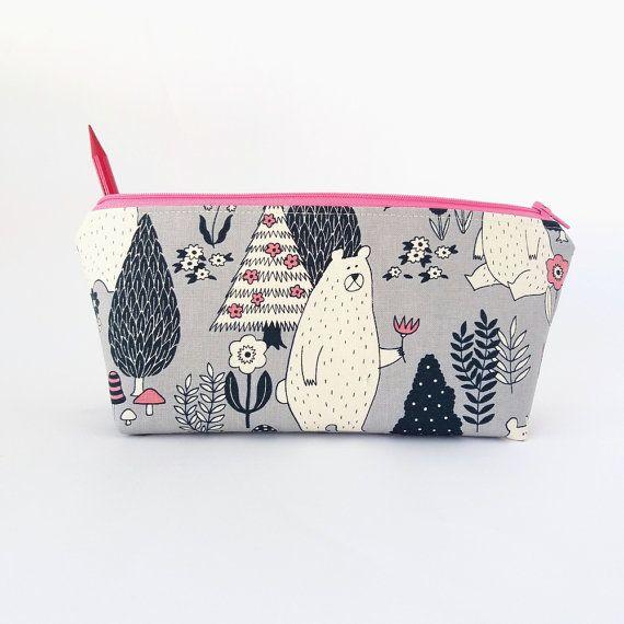 Pencil case Girls pencil bag Cute pencil case by greylittlemouse