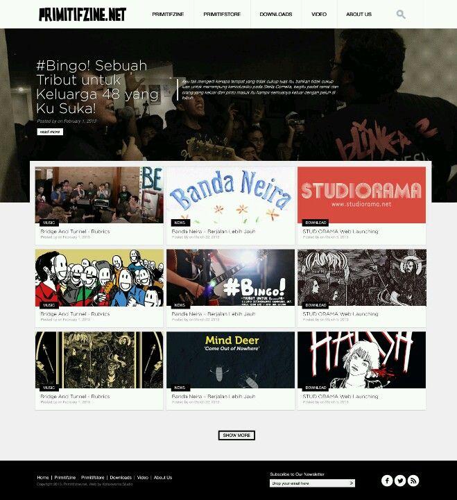 Primitifzine Redesign #website #webdesign